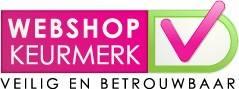 Logo Webshop Keurmerk, waar MoreThanHip bij is aangesloten.