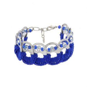 Esperanza armband van bliklipjes - blauw