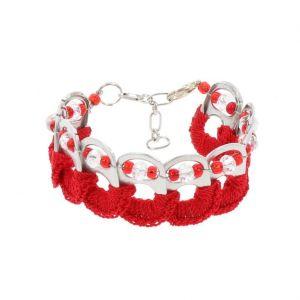 Esperanza armband van bliklipjes - rood