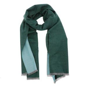 Superzachte brede sjaal of omslagdoek van bamboe WuWen - groen/mint