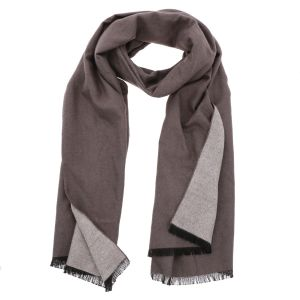 Superzachte brede sjaal of omslagdoek van bamboe WuWen - taupe