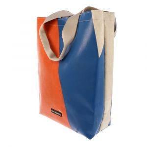 Shopper tas van gerecycled vrachtwagenzeil - Barcelona