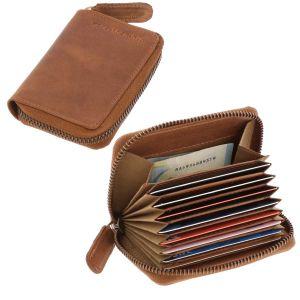 RFID pasjeshouder of creditcardhouder bruin vintage ecoleer - Dublin