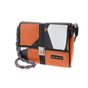 Crossbody dames tasje van gerecyclede billboards - Roza