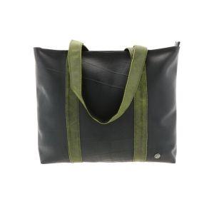 Ramblas – stijlvolle shopper van autoband en ecoleer - groen