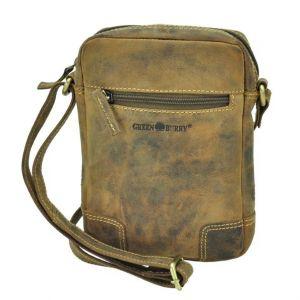 Utah - kleine schoudertas van bruin vintage leer