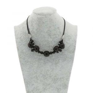 Jennyffer halsketting met chicon en acai zaden - zwart
