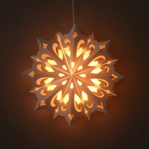 Kerstster wit papier decoratieve hanglamp Ø60 cm Kamala - incl. verlichtingsset