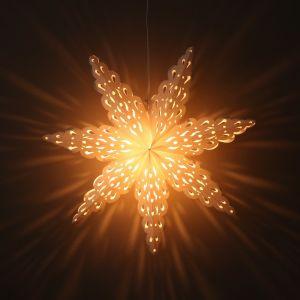 Papieren kerstster wit Ø60 cm Tara - incl. verlichtingsset