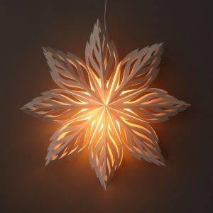 Kerstster wit papier decoratieve hanglamp Ø60 cm Lalita - incl. verlichtingsset