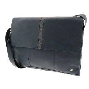 16/17 inch laptoptas van blauw PU-leer - SAMPLE