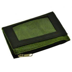 Camino - mini-portemonnee autoband & ecoleer - groen