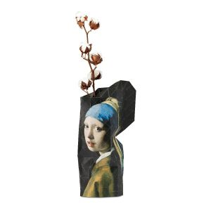 Paper Vase Cover - Dutch Designvaas - Meisje met de Parel/girl with pearl Vermeer