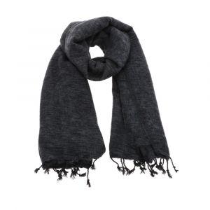 Pina - brede 'yakwol' sjaal of omslagdoek - antraciet grijs