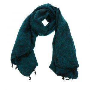 Pina - brede 'yakwol' sjaal of omslagdoek - smaragdgroen