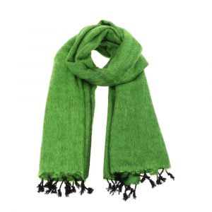 Pina - brede 'yakwol' sjaal of omslagdoek - appelgroen