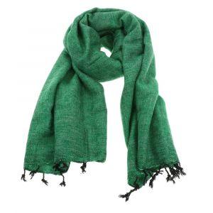 Pina - brede 'yakwol' sjaal of omslagdoek - grasgroen
