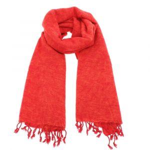 Pina - brede 'yakwol' sjaal of omslagdoek - oranje