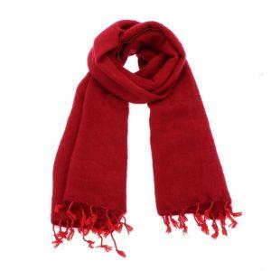 Heerlijk zachte, warme sjaal in warm rode kleur