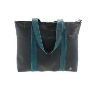 Ramblas – stijlvolle shopper van autoband en ecoleer - blauw