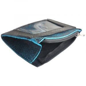 Camino - mini-portemonnee autoband & ecoleer - blauw