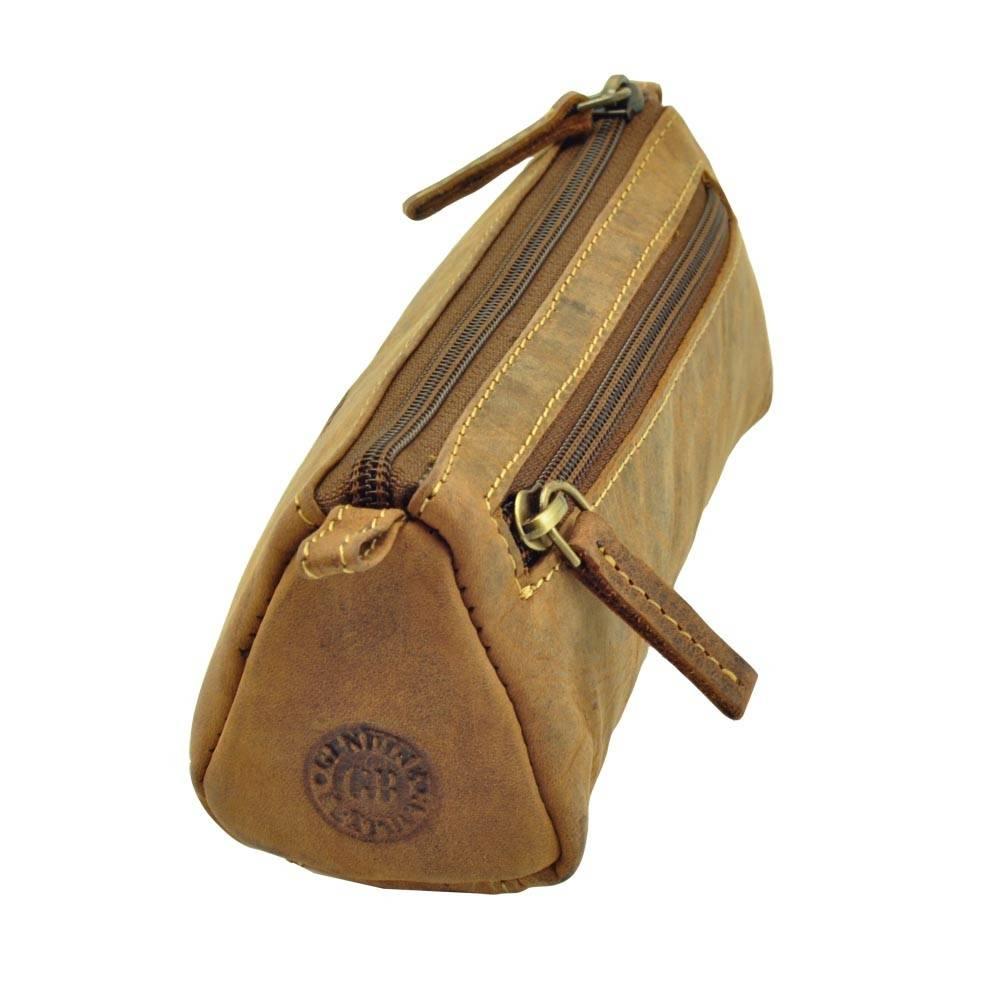 65d40a83f15 Stoere etui van plantaardig gelooid leerde nelson is een handzame etui met  een driehoekvorm en aan