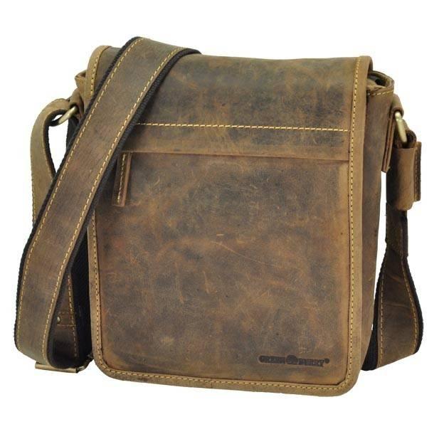 Vintage bruine leren schoudertas met strak design - Colorado from MoreThanHip