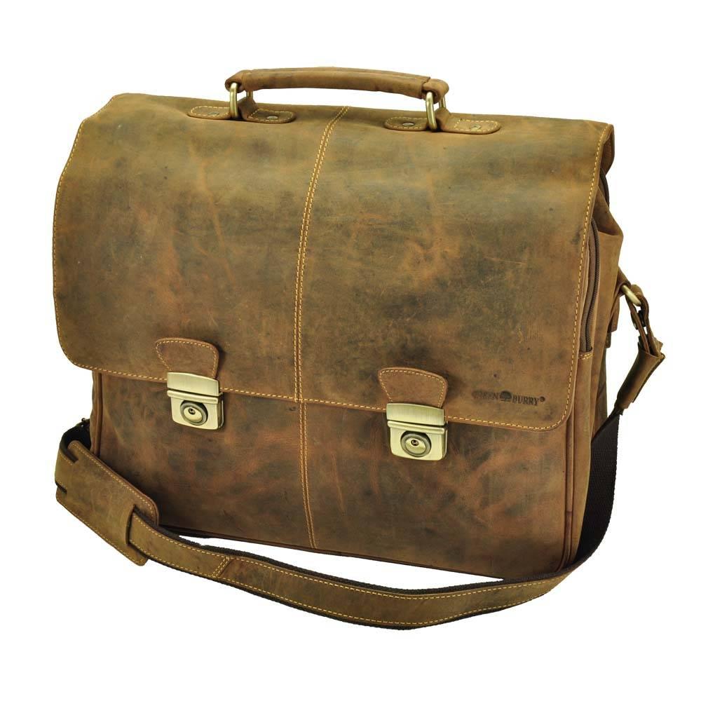 "Houston - grote aktentas/laptoptas 15,6"" vintage ecoleer from MoreThanHip"