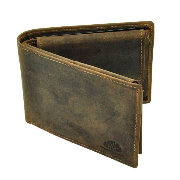 Nevada - herenportemonnee van vintage bruin leer from MoreThanHip