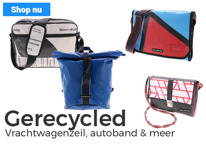 Tassen en accessoires van gerecyclede materialen