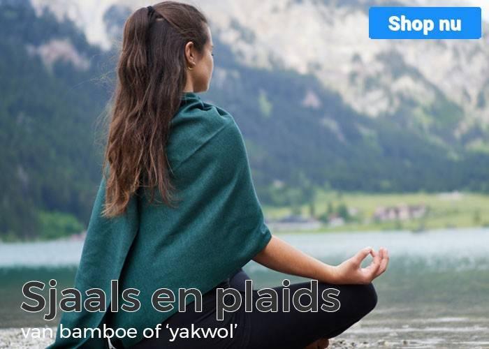 Sjaals en plaids van bamboe en yakwol