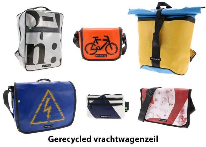 MoreThanHip unieke tassen van gerecycled vrachtwagenzeil